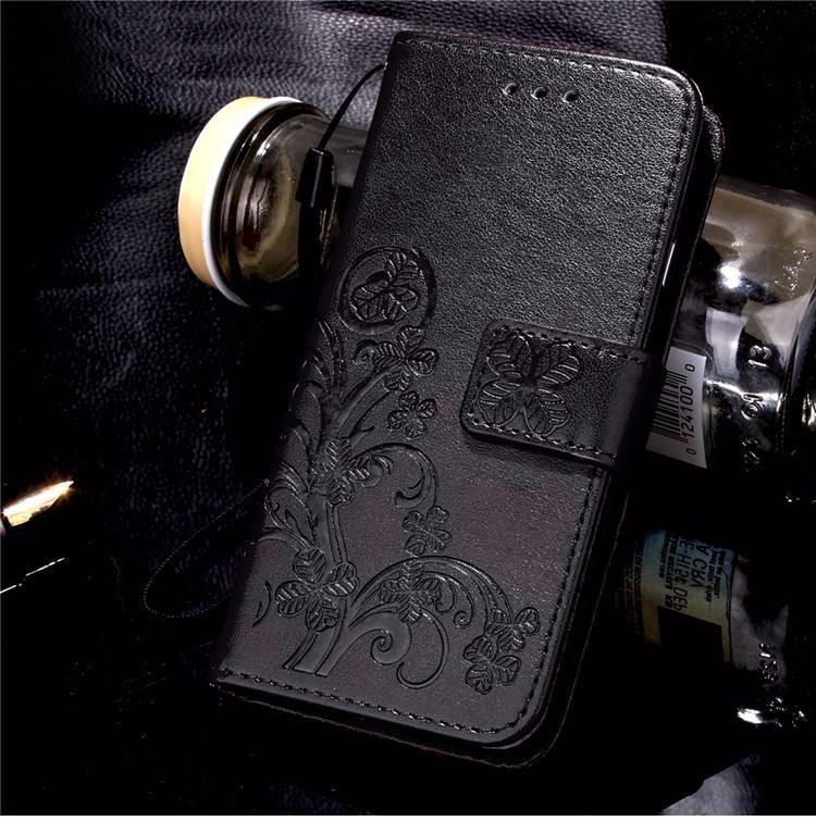 Cztery Liść Koniczyny Skrzynka dla Huawei P9 Okładka Huawei P9 Lite odwróć Wallet Case dla Huawei Hoesjes P9 Plus Telefon Coque PU skóra 9