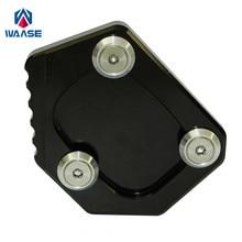 Waase Pour Honda XLV 600 650 700 TRANSALP/DOMINATOR NX 650/FMX 650 Béquille Pied Côté Stand Extension pad Support Plaque