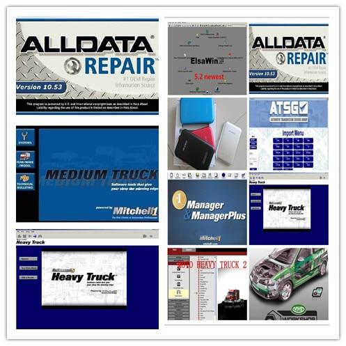 all data pro alldata 10.53 and mitchell on demand (161gb) auto repair software+moto heavy truck+vivid workshop full set 1tb hdd