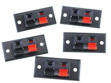 5 pz 2 Spilli Speaker Audio di Prova Morsetti A Molla Clip di AC/DC Connettori Martinetti Spina