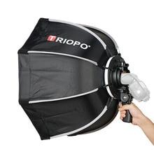 Tripo 65cm 접이식 소프트 박스 옥타곤 소프트 박스 (godox 용 핸들 포함) yongnuo speedlite 플래시 라이트 사진 스튜디오 액세서리