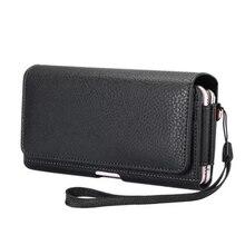 "Double Pockets Phone Case For Nexus 5x Umi Rome X Infocus M560 5.5"" Horizontal Bag Magnetic Holster Belt Clip Waist Pouch Cover"
