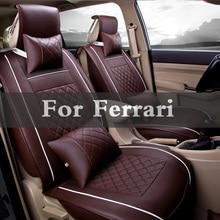 New Luxury Quality Pu Leather Automobiles Car Seats Covers Set For Ferrari 488 Gtb 575m 612 California F12berlinetta F430 Ff