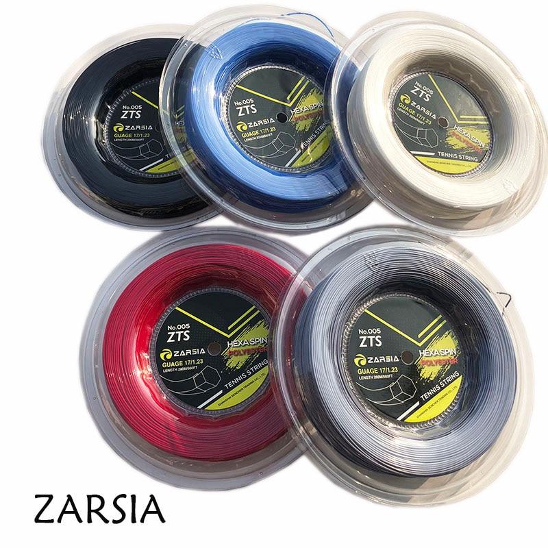 1 Reel  200M Genuine Brand ZARSIA  Hexagon tennis String Reel tennis string,made in taiwan,Hex spin polyester strings tour xc 17l tennis string reel black