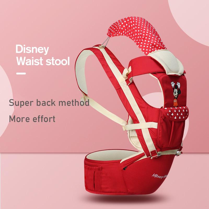 Portabebés de Disney, portabebés delantero, cómodo portabebés, mochila, bolsa, envoltorio, Bebé Canguro, asiento para Recién Nacido 0-36 M
