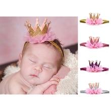 1 Pc Newborn Crown Headband Gold Princess Crown Baby Girls Cute Hair Band Children Photo Props Infant Kids Hair Accessories