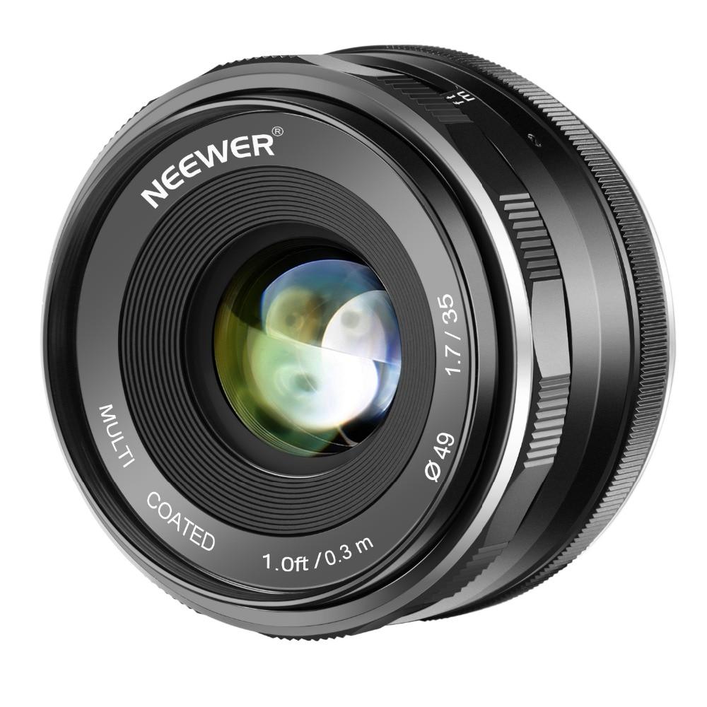 Neewer 35 مللي متر F/1.7 فتحة APS-C رئيس دليل التركيز عدسة لكانون EF-M EOS-M جبل المرايا كاميرات EOS M M2 M3 M5 M6 M20