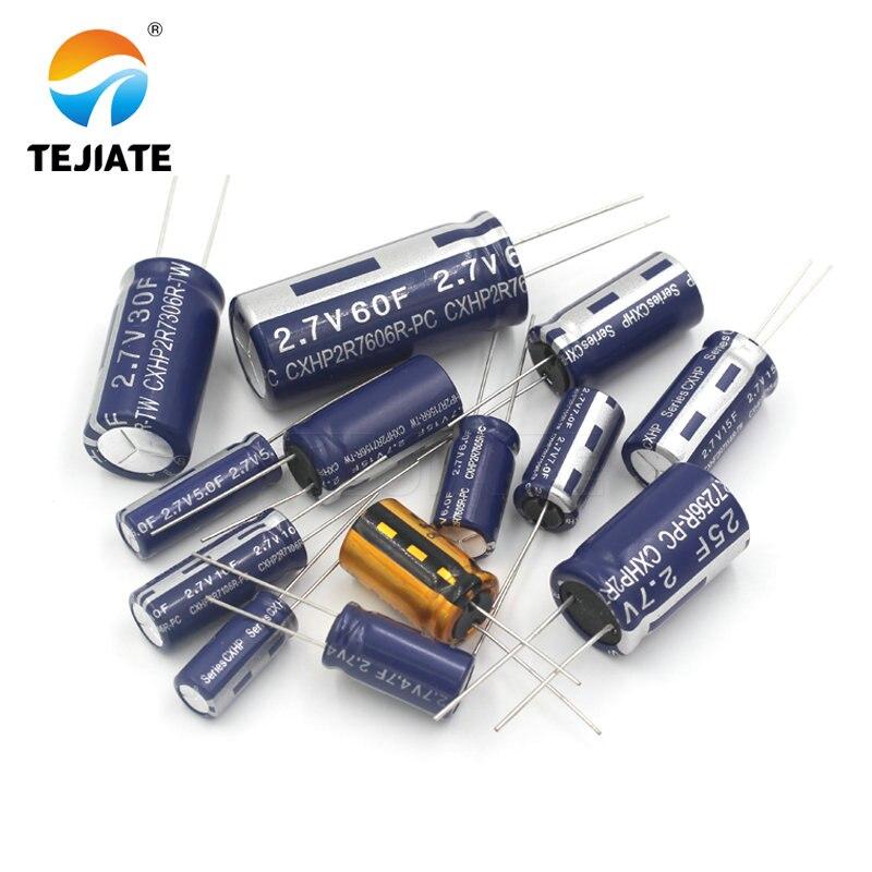 2PCS super kondensator farad kondensator 2,7 V 2F 3,3 F 4F 4,7 F 5F 6F 7F 8F 10F 15F 20F 25F 30F 60F