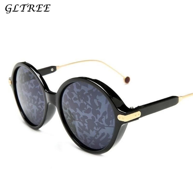Gafas de sol GLTREE 2019 de moda para mujer gafas redondas de lujo de marca de diseñador para hombre Retro gafas pequeñas rojas Oculos UV400 G75