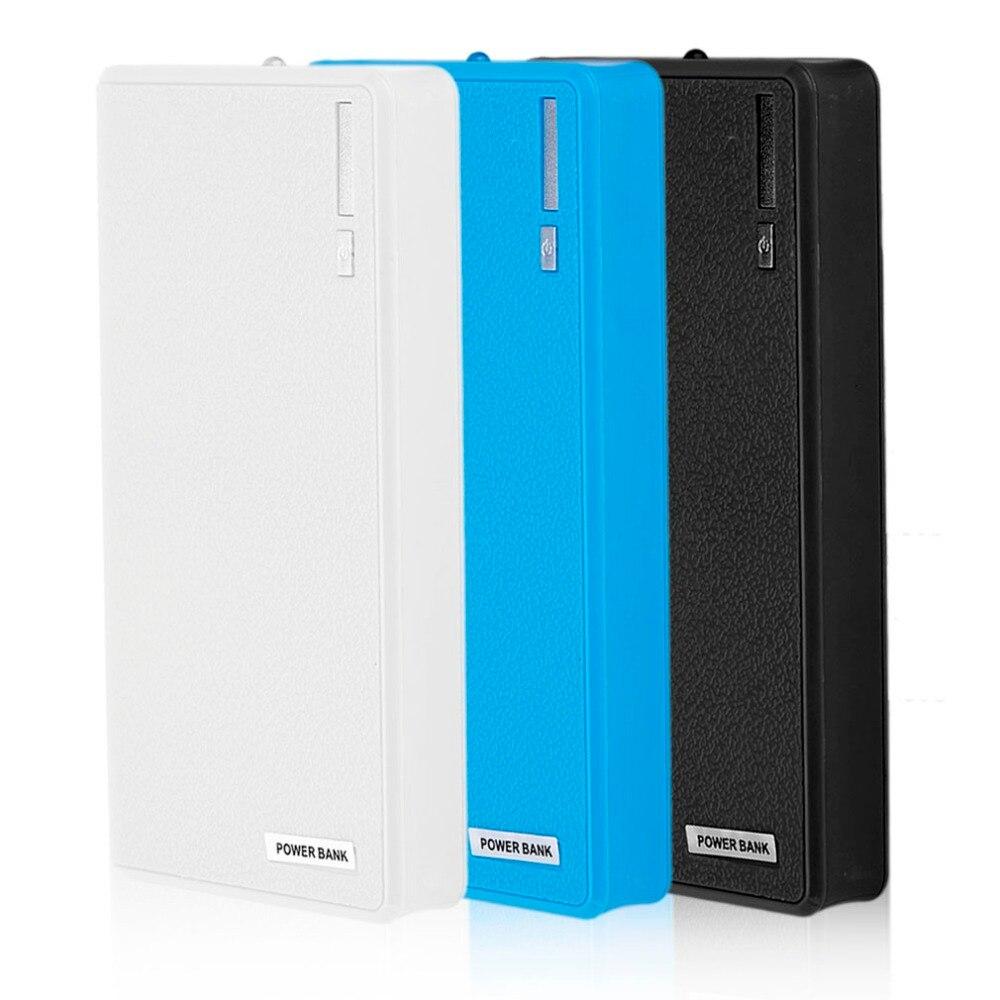 Funda Universal de batería de doble banco de energía USB, cargador de batería DIY 6x18650, Kit de caja de batería externa (sin batería) para/iPhone Samsung/Huawei