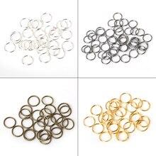 200 teile/los 8mm 10mm Messing/Gun-metall/Gold/Silber/Rhodium Öffnung Haar Ring braid Dreadlock Perle Manschette Clip Braid Werkzeug Hoop Kreis