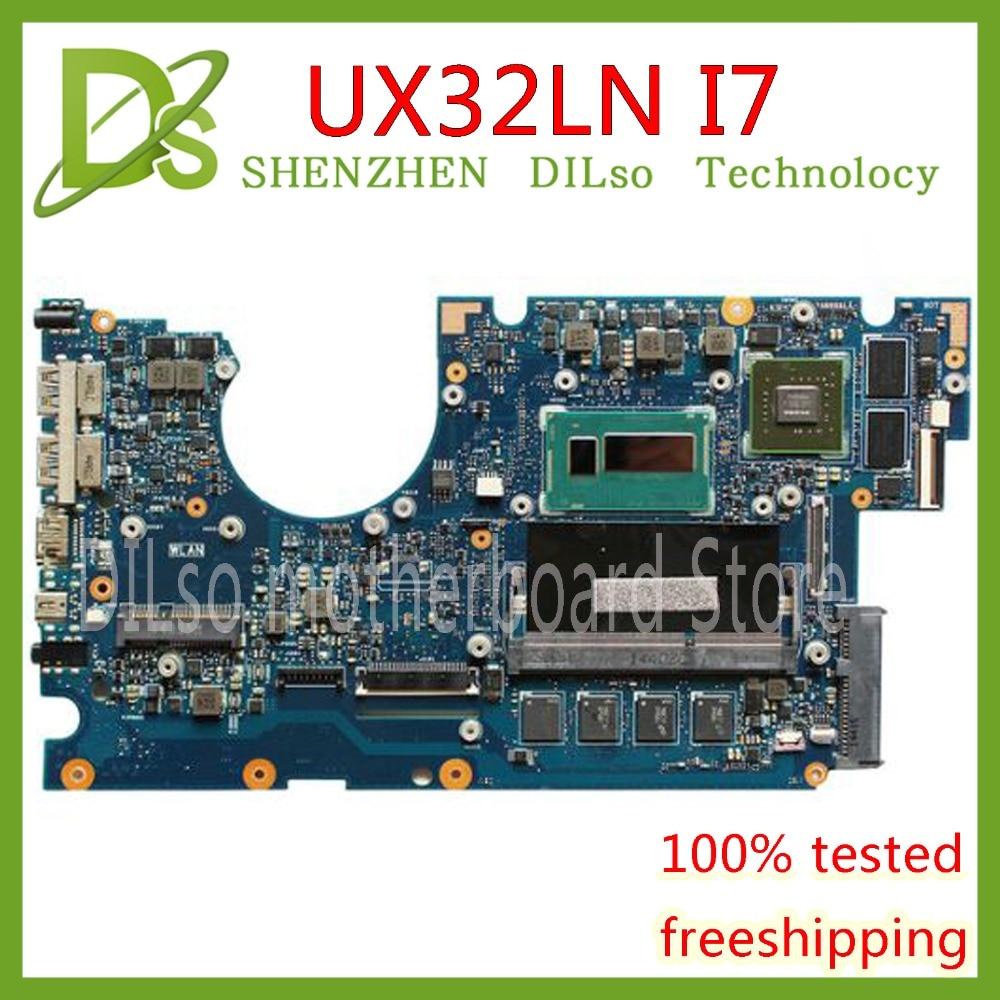 Placa base KEFU UX32LA para ASUS UX32LN i7-4500 CPU GT840M 4GB N15S-GT-S-A2 placa base para ordenador portátil placa base de prueba original