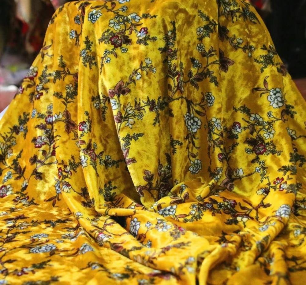 ¡Novedad de 2018! tela de terciopelo de seda de 150cm de ancho para vestido de terciopelo tela de seda de otoño tela de terciopelo de seda estampada LL07