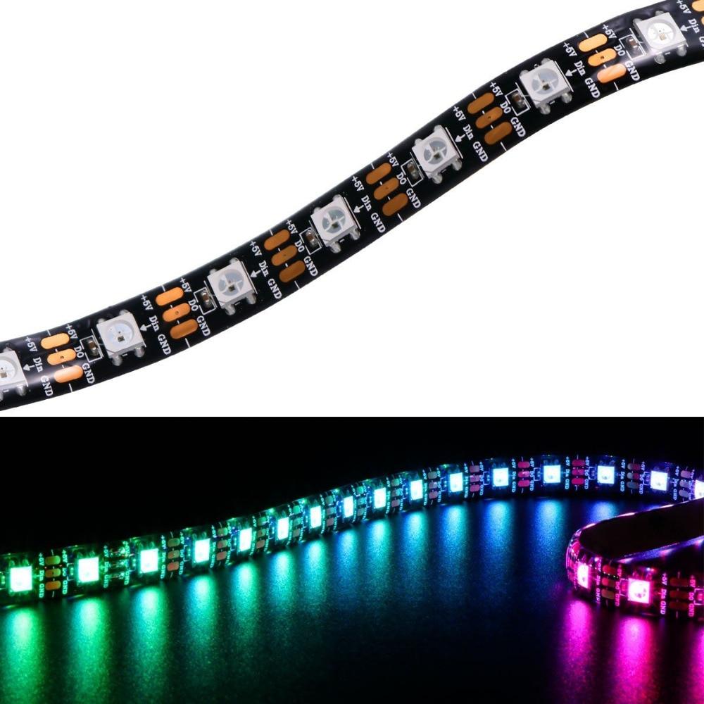 Matrix SK6812 5V WS2812B cinta Flexible LED 60LEDs 5050 RGB WS2811 IC resistente al agua direccionable a todo Color, raya mágica