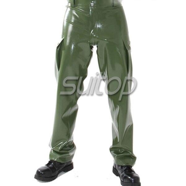 Suitop  latex uniform pants