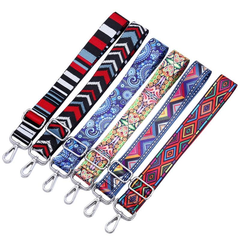 Correa de nailon de colores, accesorios de correa para mujer, percha de hombro ajustable, correas para bolso, adorno manillar decorativo