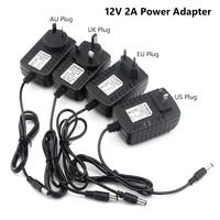 tsleen 5v 12v 24v 1a 2a 3a ac dc adaptor usukeuau plug power adapter universal charger supply for led light strip lamp driver