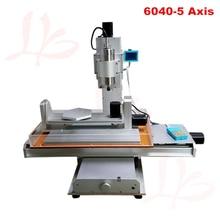 Type de colonne 6040 CNC Machine 2.2KW 3 axes avec axe de rotation B axe machine de gravure verticale CNC routeur 60*40 avec un axi