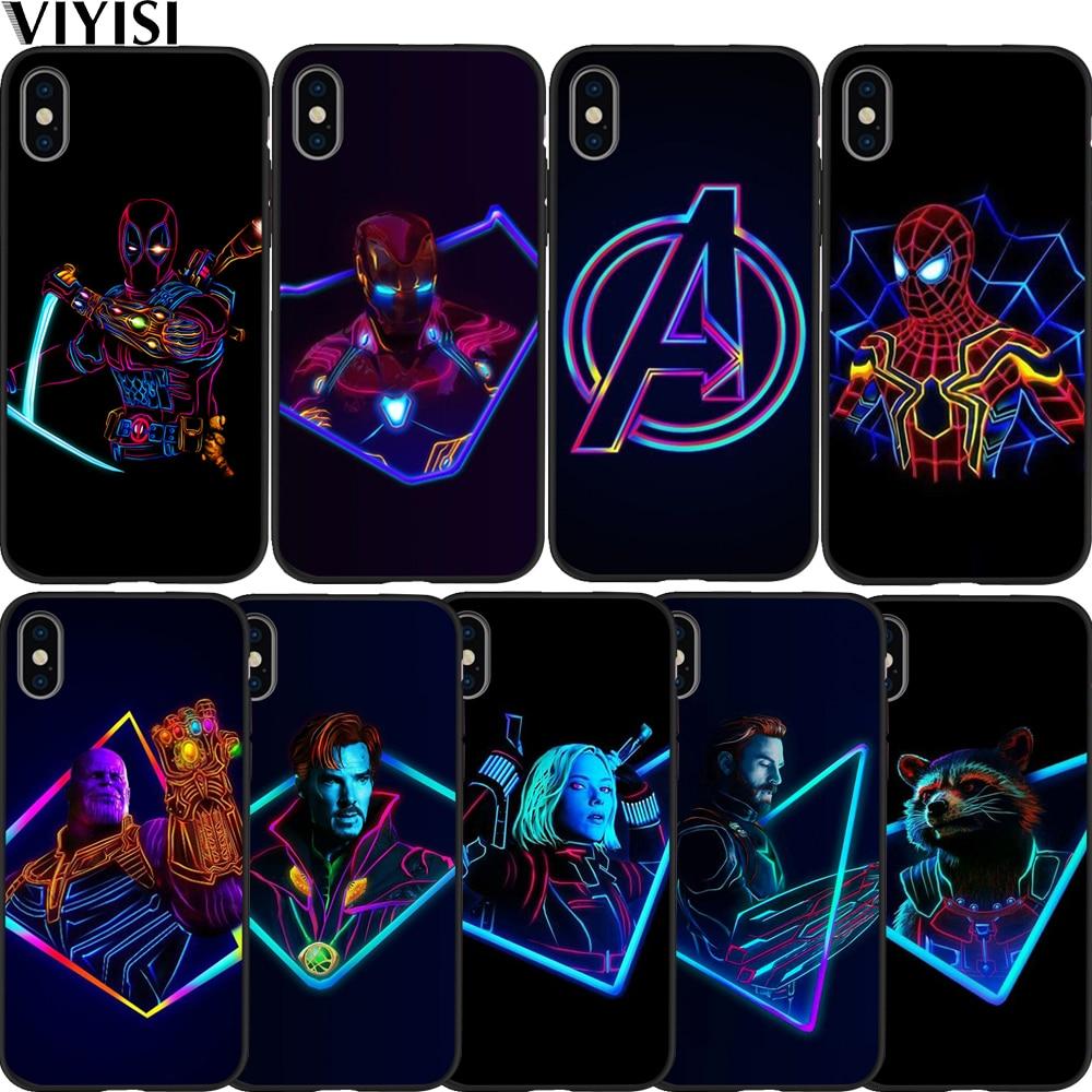Luxus Marvel Avengers Super Heroes Deadpool Spider-Man-Fall Für Apple iPhone X Fall 7 8 6 6S plus 5 5S SE XS MAX XR Etui Coque
