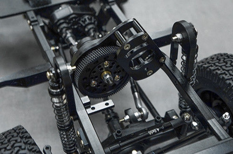 Купить с кэшбэком Details about  1:10 RC Crawler Xtra Speed D90 Car Body Chassis Frame Kit With Wheels 280mm