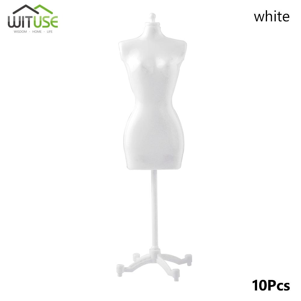 10 Uds. Vestido de tela de muñeca de plástico vestido desmontable soporte de exhibición modelo maniquí soporte accesorios para vestido de muñeca