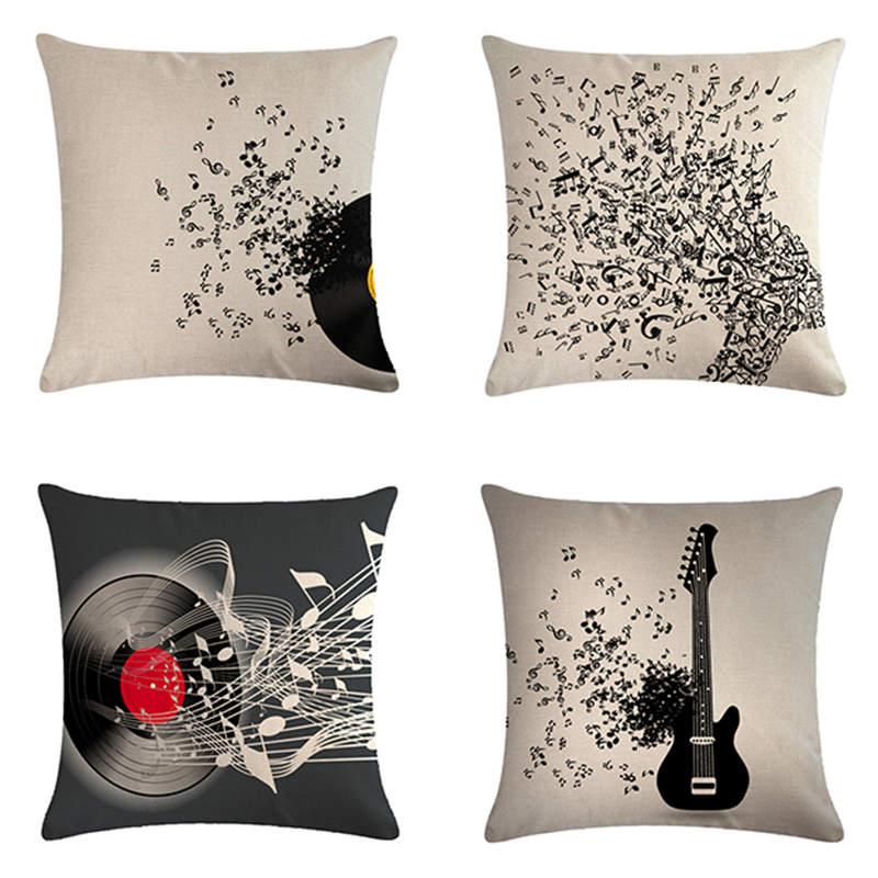 Музыка для подушки серии подарков домашний декор наволочка наволочки 45*45 см подушка для дивана Dec