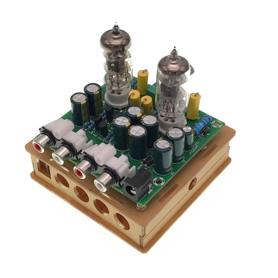 Newest 6J1 tube preamp amplifier board Pre-amp Headphone amp 6J1 valve preamp bile buffer diy kits(6J1 tube preamp amplifier b