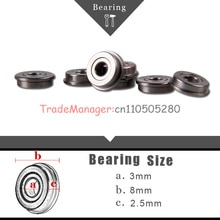 10PCS Miniature Radial Ball Bearings Remote control car parts Brand new 3*8*2.5 imported bearings  f