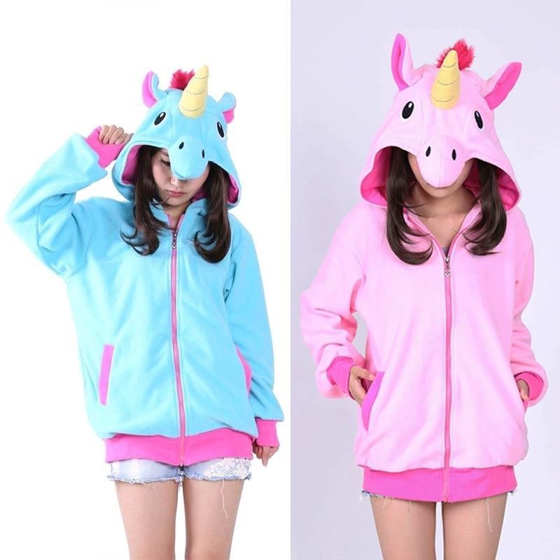 Bonita pijama de dibujos animados onesie para dormir, nueva Sudadera con capucha de unicornio de manga larga para adulto Onesie
