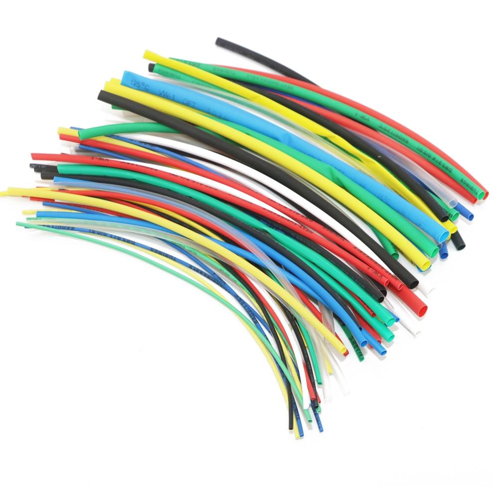 70 pçs poliolefina multicolorido encolhendo sortido tubo de psiquiatra de calor cabo de fio isolado sleeving tubo conjunto de ferramentas