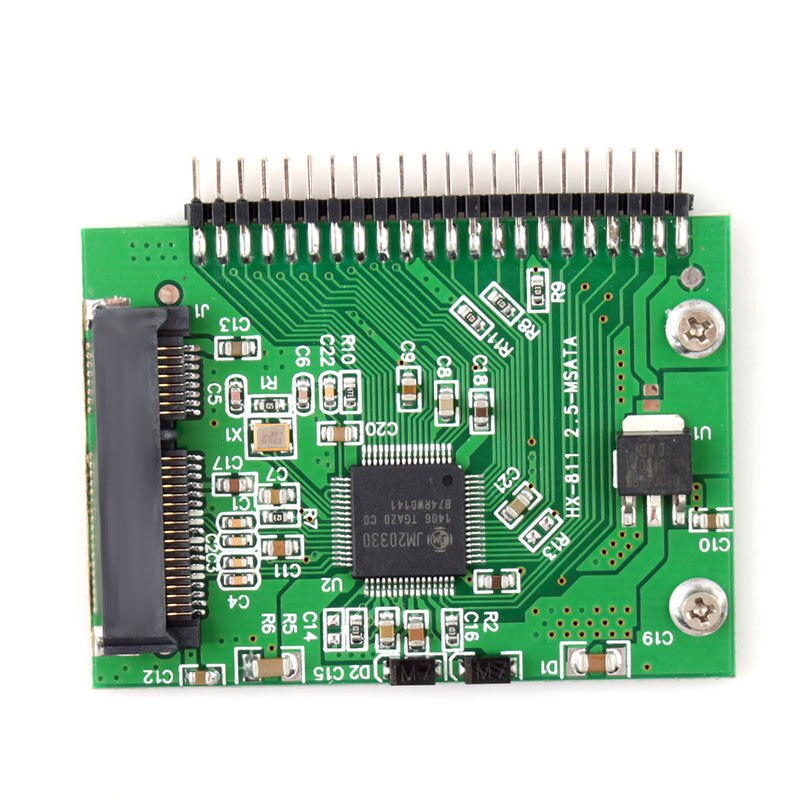 "Buyincoins MSATA SSD 55mm x 40mm SSD a 2,5 44PIN IDE HDD tarjeta adaptadora ""#55362"