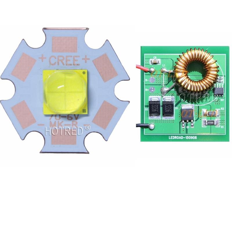 Cree XHP70.2 6V blanco 6500 K/blanco 5000K LED emisor con 20mm DTP Cooper pcb + 6V 4A 50*45*11mm conductor