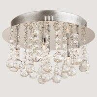 New Modern Luxury Crystal Ceiling Lamp Stainless Steel Flush Mount For Living Room Chandelier Light Fixture Lighting CL136