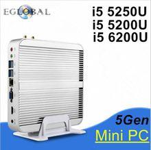 Client mince, mini ordinateur nettop intel NUC i5 5200u, 4G RAM 500G HDD, 2 * Gigabit LAN + 2 * HDMI, carte SD, 300M WIFI, micro pc
