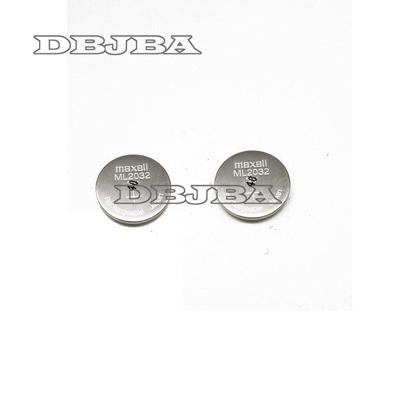 2 pçs/lote Original Novo ML2032 3 V baterias botão bateria de lítio Recarregável da pilha da tecla (ML2032)