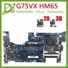 KEFU G75VX 2D/3D for ASUS G75VW G75V G75VX support 2D/3D connector HM65 laptop motherboard 100% test work original