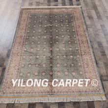 Yilong 5'x7.5' Classic Handmade Persian Carpet Hand Knotted Oriental Silk Rug (WZ71A5x7.5)