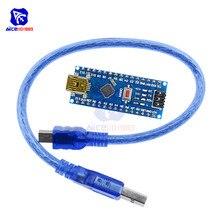 Nano V3.0 3.0 Mini USB pilote ATmega328 ATmega328P 5V 16M Micro contrôleur carte CH340 pour Arduino Usb câble remplacer FT232RL fai