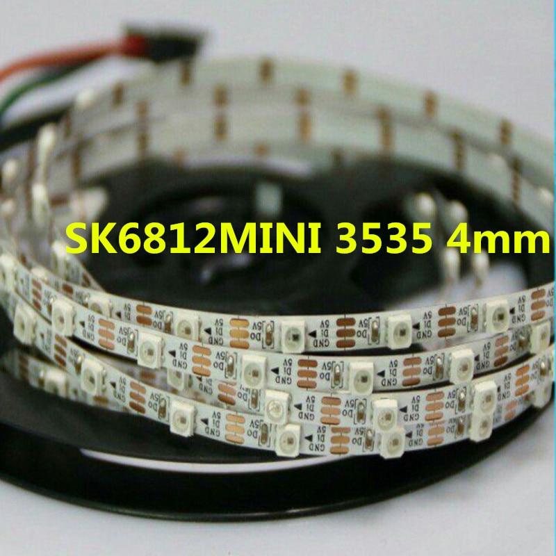 SK6812MINI 3535 4 MM/SK6812 5050 5mm DC5V RGB tira de píxeles LED 1m 2m y 5 m, LEDs 60/m 4mm 5mm FPC no a prueba de agua 60 pixels/M como WS2812B