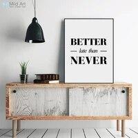 Moderne minimaliste noir blanc inspirant typographie citation Art imprimer affiche mur photo salon toile peinture maison deco