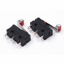 10 adet sıcak satış Mini mikro anahtarı 3Pin ile silindir Limit anahtarı