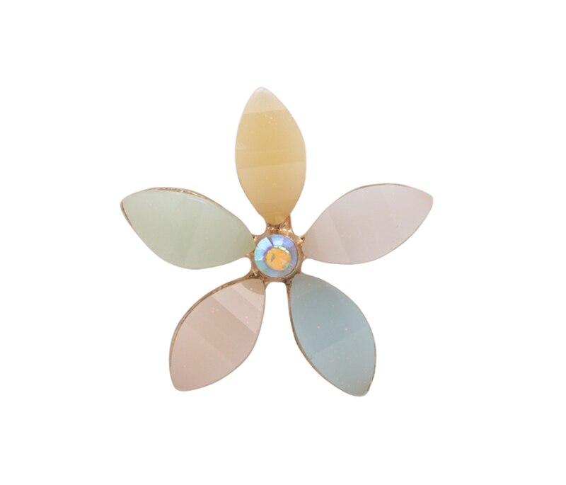 Envío Gratis 30 piezas Multi-esmalte flor cabujón plano para teléfono Deco #92162