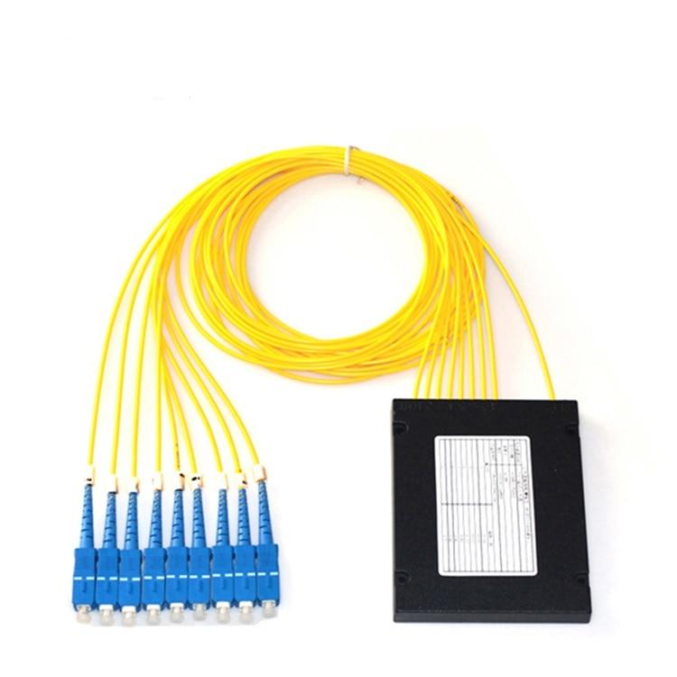 Fibra óptica 8 canales CWDM Mux Demux módulo 1470-1610nm con conector SC/FC/LC/ST