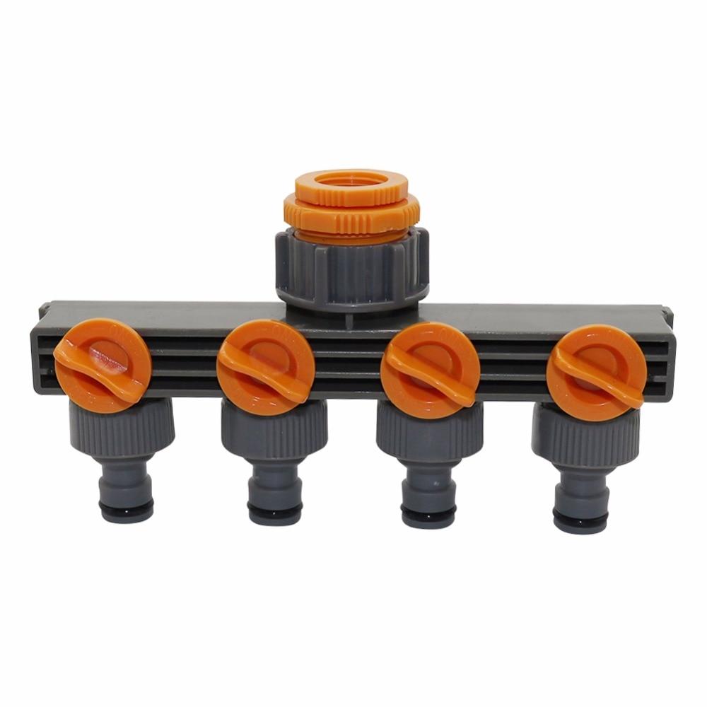 """1 """"to3/4"""" to1/2 """"гнездовая резьба 4-полосные разветвители шланга для автоматического полива водопроводных труб таймер садовый инструмент для полива воды"""