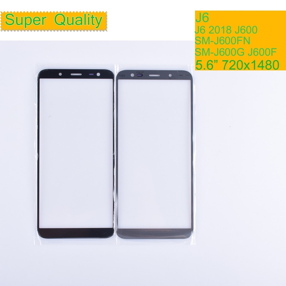 10 unids/lote para Samsung Galaxy J6 2018 J600 J600F SM-J600F/DS SM-J600G/DS pantalla táctil cristal exterior lente de pantalla táctil LCD frontal