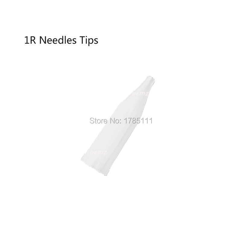100 Uds tatuaje permanente desechable maquillaje puntas de jeringa cápsulas de aguja tradicionales 1R agujas tapas puntas