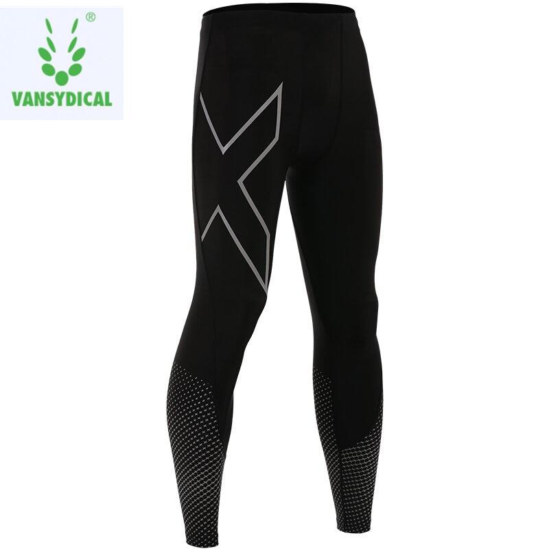 2018 compresión Cool seco deportes medias pantalones Baselayer Running Leggings Yoga jogging hombres fresco seco deportes