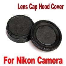 Tapa de lente trasera de cámara Universal cubierta de protección cuerpo gorra con cámara accesorios para lente Nikon AF AF-S DSLR SLR