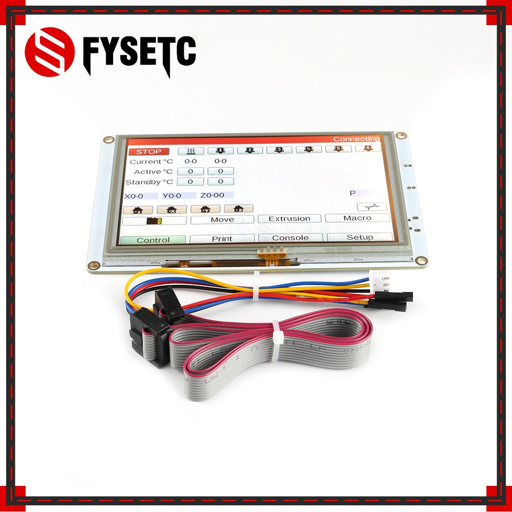 FYSETC 5'' 7'' 5 inch / 7inch PanelDue 5i / 7i Integrated Paneldue Colour Touch Screen Controllers For DuetWifi Duet 2 Ethernet