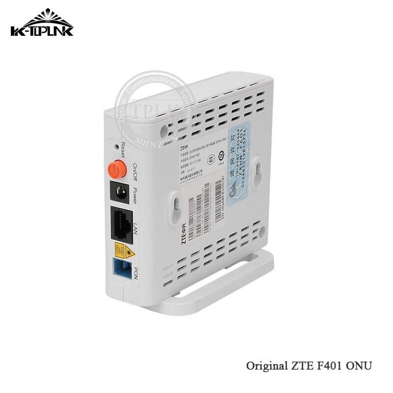 10 pièces nouvelle ONU pour ZTE F401 EPON ONU ONT 1GE simple Port Lan Ethernet Port anglais micrologiciel FTTH fibre optique Terminal offre spéciale